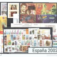 Sellos: SELLOS ESPAÑA AÑO 2002 COMPLETO - EDIFIL 3857-3956 - NUEVOS. Lote 107209744