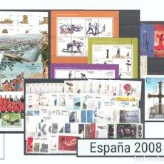 Sellos: SELLOS ESPAÑA AÑO 2008 COMPLETO - EDIFIL 4360-4445 - NUEVOS. Lote 107209820