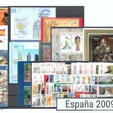 Sellos: SELLOS ESPAÑA AÑO 2009 COMPLETO - EDIFIL 4446-4523 - NUEVOS. Lote 107209838