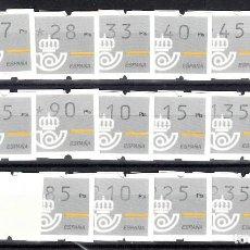 Sellos: ATM XACOBEO 93 SERIE LARGA CON TRES DIGITOS Y NÚMERO AL DORSO. Lote 107271639