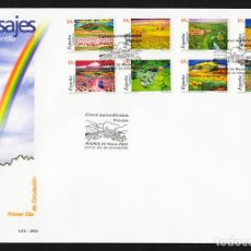 España 2003 Edifil 3969/76 SOBRE - PD. Paisajes