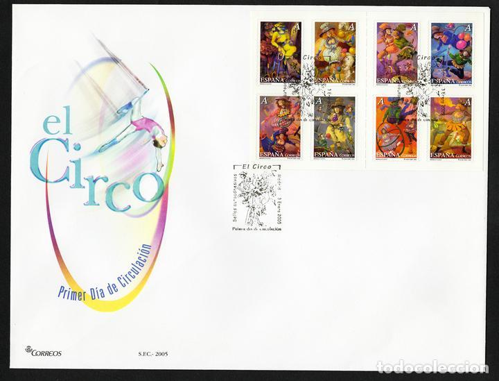 ESPAÑA 2005 EDIFIL 4133/40 SOBRE - PD. EL CIRCO EXISTENCIAS - 2 (Sellos - España - Juan Carlos I - Desde 2.000 - Cartas)