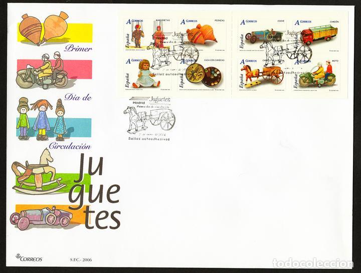 ESPAÑA 2006 EDIFIL 4199/4206 SOBRE - PD. JUGUETES (Sellos - España - Juan Carlos I - Desde 2.000 - Cartas)