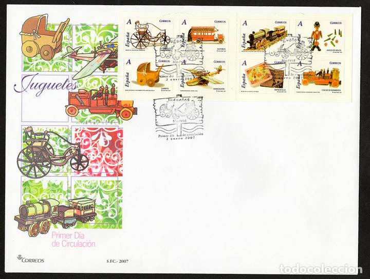 ESPAÑA 2007 EDIFIL 4288/95 SOBRE - PD. JUGUETES (Sellos - España - Juan Carlos I - Desde 2.000 - Cartas)