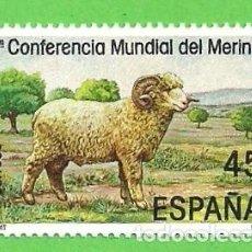 Sellos: EDIFIL 2839. II CONFERENCIA MUNDIAL DEL MERINO - CARNERO MERINO. (1986).** NUEVO SIN FIJASELLOS.. Lote 107692919