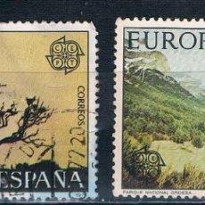 Sellos: ESPAÑA 1977 EUROPA-CEPT SERIE EDIFIL 2413/2414 USADA. Lote 108004659
