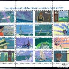Sellos: ESPAÑA. HOJA BLOQUE DEL AÑO 2004.- SERIE COMPLETA EN NUEVOS. Lote 108326339