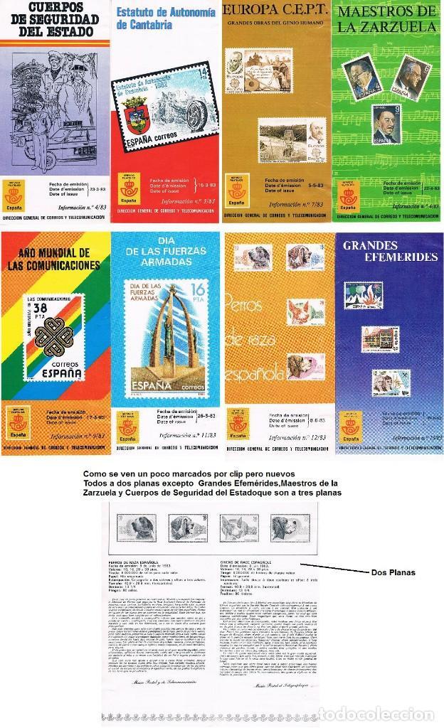 ESPAÑA 11 FOLLETOS SUELTOS DE 1983 VER FOTOS (Sellos - España - Juan Carlos I - Desde 1.986 a 1.999 - Nuevos)