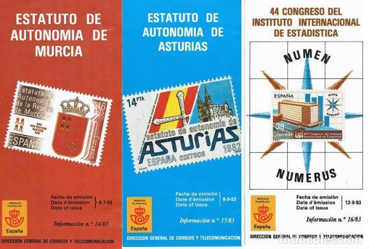 Sellos: ESPAÑA 11 FOLLETOS SUELTOS DE 1983 VER FOTOS - Foto 2 - 108754503