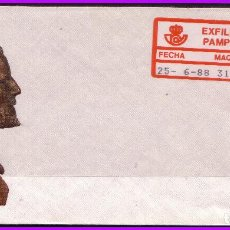 Sellos: 1988 EXFILNA PAMPLONA SOBRE CON ETIQUETA ADHESIVA Nº 16B. Lote 108792767