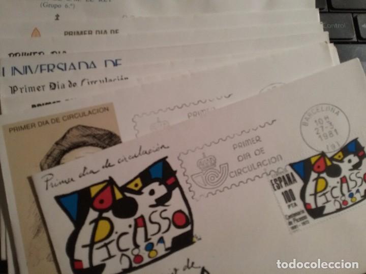 LOTE 19 SOBRES PRIMER DIA DE CIRCULACION 1981 (Sellos - España - Juan Carlos I - Desde 1.975 a 1.985 - Cartas)