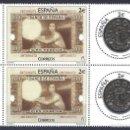 Sellos: EDIFIL 5010-5011. NUMISMÁTICA. BILLETE Y MONEDA DE 100 PESETAS. AÑO 2015 (2 SERIES). MNH **. Lote 108982003