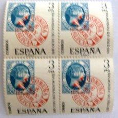 Sellos: SELLOS ESPAÑA 1976. EDIFIL 2318. NUEVOS. DIA MUNDIAL DEL SELLO. BLOQUE DE CUATRO.. Lote 109019723