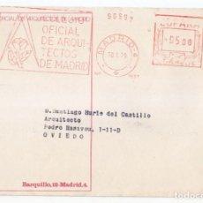 Sellos: SOBRE CON FRANQUEO MECÁNICO DEL COLEGIO DE ARQUITECTOS DE MADRID. 1979. Lote 109061351