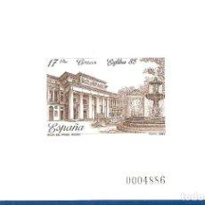 Sellos: PRUEBA OFICIAL Nº 8--EXFILNA 85-- PERFECTAMENTE CONSERVADA-LUJO-SIN CHARNELA. Lote 109599507