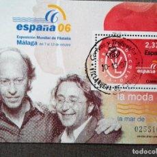 Sellos: ESPAÑA 2006, HOJA BLOQUE , LA MODA: VICTORIO & LUCCINO, USADO, CON GOMA INTACTA . Lote 109902751