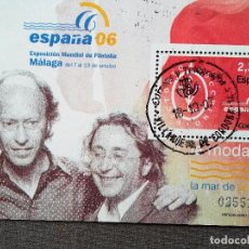 Sellos: ESPAÑA 2006, HOJA BLOQUE , LA MODA: VICTORIO & LUCCINO, USADO, CON GOMA INTACTA . Lote 109903227