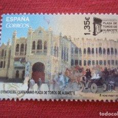 Sellos: SELLO ESPAÑA 2017 1,35€ VALOR PLAZA DE TORROS DE ALBASETE USADOS ZONA EURO. Lote 110093979