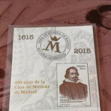 Sellos: SELLO ESPAÑA - 400 AÑOS CASA MONEDA MADRID 2015 - PERFECTO ESTADO. Lote 110203359