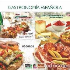 Sellos: AÑO 2015 (4942) HB GASTRONOMIA ESPAÑOLA (NUEVO). Lote 110254275