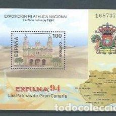 Sellos: ESPAÑA,1994,EXFILNA 94,GRAN CANARIA,EDIFIL 3313,NUEVO,MNH**. Lote 118896672