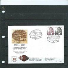 Sellos: SOBRE CON MATASELLO ESPECIAL DE ARANDA DE DUREO DEL V CENTENARIO DEL PLANO DE LA VILLA DEL AÑO 2003. Lote 110666407