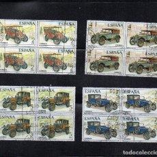 Sellos: AÑO 1977 Nº EDIFIL 2409-12 AUTOMOVILES ANTIGUOS BLOQUE DE CUATRO. Lote 110793935