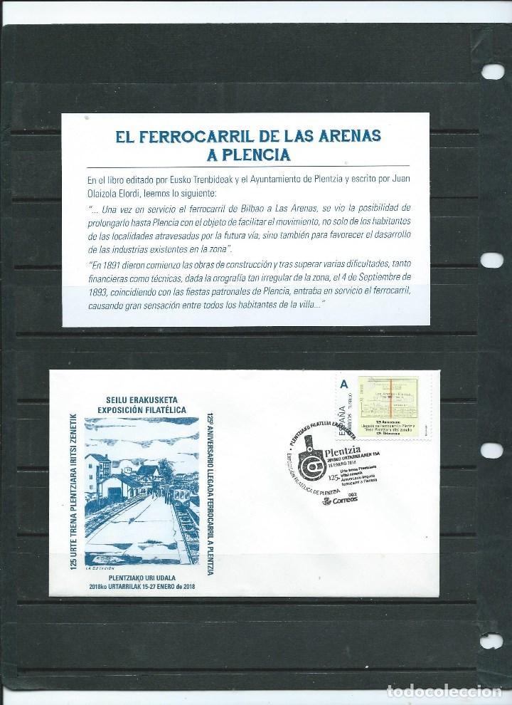SOBRE CON MATASELLO ESPECIAL Y SELLO PERSONALIZADO DEL 125 ANIVERSARIO DE LA SELLADA DEL TREN A PLEN (Sellos - España - Juan Carlos I - Desde 2.000 - Cartas)