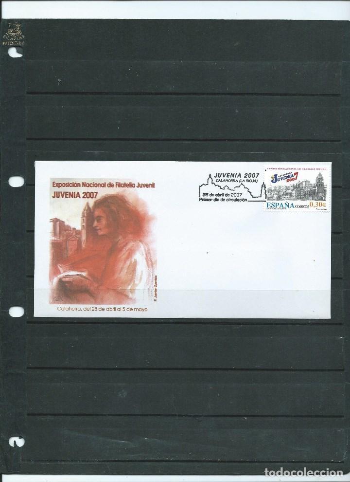 SOBRE CON MATASELLO ESPECIAL DE PRIMER DIA DE CALAHORRA DE LA EXP FILATELICA JUVENIA DEL AÑO 2007 (Sellos - España - Juan Carlos I - Desde 2.000 - Cartas)