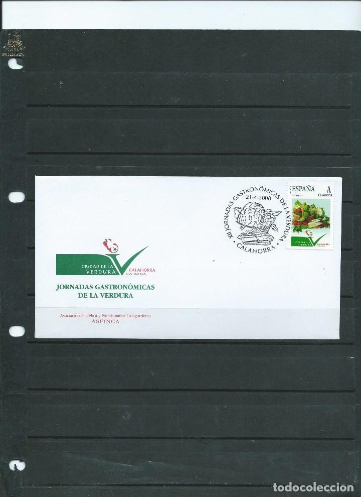 SOBRE CON MATASELLO ESPECIAL DE CALAHORRA CON SELLO PERSONALIZADO DE LAS JOR. DE LAS VEDEL AÑO 2008 (Sellos - España - Juan Carlos I - Desde 2.000 - Cartas)