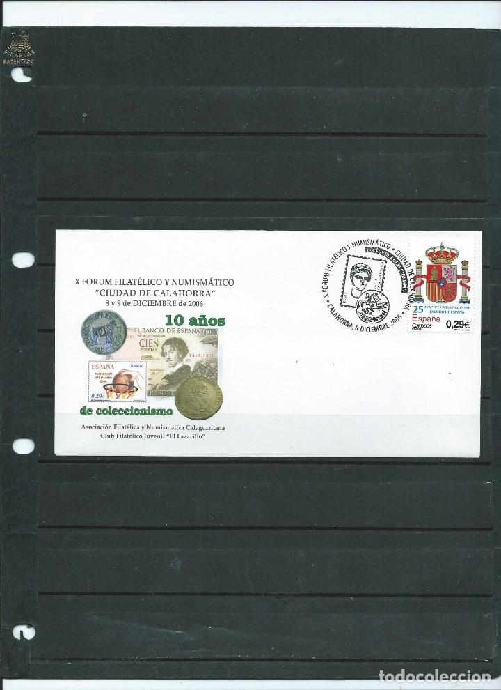 SOBRE CON MATASELLO ESPECIAL DE CALAHORRA DE FORUM FILATELICO DE COLECCIONISMO DEL AÑO 2006 (Sellos - España - Juan Carlos I - Desde 2.000 - Cartas)