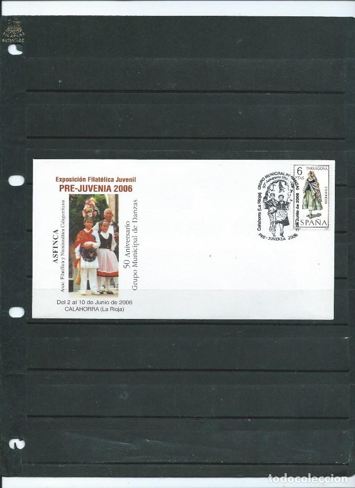 SOBRE CON MATASELLO ESPECIAL DE CALAHORRA DE PRE JUVENIA DEL AÑO 2006 (Sellos - España - Juan Carlos I - Desde 2.000 - Cartas)