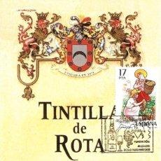 Sellos: TARJETA EXFILANDALUS 2001 TINTILLA DE ROTA UVA VINO ZOILO RUIZ-MATEOS. Lote 110938839