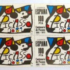 Sellos: SELLOS ESPAÑA 1981. EDIFIL 2609. NUEVOS. PABLO RUIZ PICASSO. BLOQUE DE CUATRO.. Lote 111031479