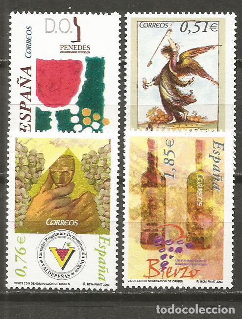 ESPAÑA VINOS CON DENOMINACION DE ORIGEN EDIFIL NUM. 4015/4018 ** SERIE COMPLETA SIN FIJASELLOS (Sellos - España - Juan Carlos I - Desde 2.000 - Nuevos)