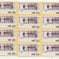 Timbres: ATM PINTA EL TEU SEGELL- 5 SERIES DE 0,26 0,51 0,76 EUROS - LEER. Lote 111356887