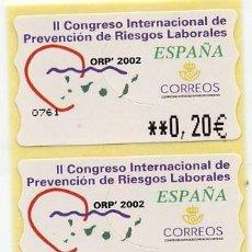 Timbres: ATM II CONGRESO INTERNACIONAL DE RIESGOS LABORALES - SERIE DE 3 VALORES - LEER. Lote 111357575