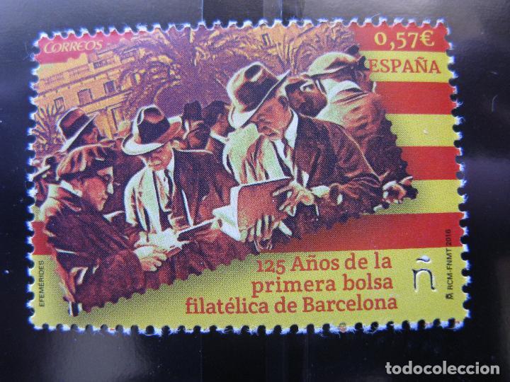 2016 125 AÑOS BOLSA FILATELICA DE BARCELONA (Sellos - España - Juan Carlos I - Desde 2.000 - Nuevos)
