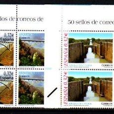 Sellos: ESPAÑA. 4505/06 ARQUITECTURA: PUENTE DE LOS TILOS-CANAL DE CASTILLA, BLOQUE DE CUATRO. 2009. SELLOS. Lote 111566462