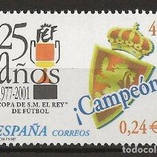 Sellos: R13.G35/ ESPAÑA 2001, EDIFIL 3805, MNH **, COPA DE S.M. EL REY DE FUTBOL. Lote 111734655