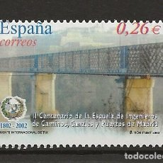 Sellos: R13.G35/ ESPAÑA 2003, EDIFIL 3966, MNH **, CANALES Y PUERTOS DE MADRID. Lote 144536117