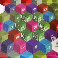 Sellos: 5 SELLO ESPAÑA - SERIE TICS REDES SOCIALES 2015 - HEXAGONALES Y FOSFORESCENTES - PERFECTOS. Lote 111857427