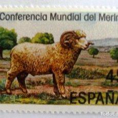 Sellos: SELLOS ESPAÑA 1986. EDIFIL 2839. NUEVO. CONFERENCIA MUNDIAL DEL MERINO. . Lote 111890763
