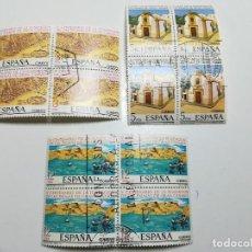 Sellos: AÑO 1978 Nº EDIFIL 2477-79 FUNDACION LAS PALMAS DE GRAN CANARIA BLOQUE DE CUATRO MATASELLO FENOMENAL. Lote 112140331