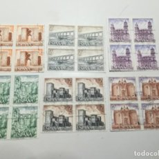 Sellos: AÑO 1977 Nº EDIFIL 2417-22 SERIE TURISTICA XI GRUPO BLOQUE DE CUATRO. Lote 112140747