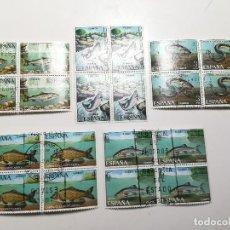 Sellos: AÑO 1977 Nº EDIFIL 2403-07 FAUNA HISPANICA BLOQUE DE CUATRO MATASELLO FENOMENAL. Lote 112140887