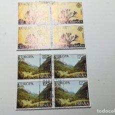 Sellos: AÑO 1977 Nº EDIFIL 2413-14 EUROPA BLOQUE DE CUATRO MATASELLO FENOMENAL. Lote 112141043