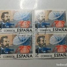 Sellos: AÑO 1976 Nº EDIFIL 2311 CENTENARIO DEL TELEFONO BLOQUE DE CUATRO MATASELLO FENOMENAL. Lote 112141375