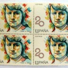 Sellos: SELLOS ESPAÑA 1989. EDIFIL 2989. NUEVOS. MARIA DE MAEZTU. BLOQUE DE CUATRO.. Lote 112249151