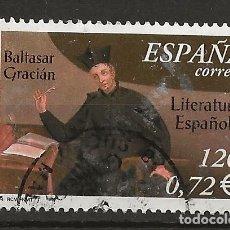 Sellos: R30/ ESPAÑA USADOS 2001, EDIFIL 3808, LITERATURA ESPAÑOLA. Lote 112499671